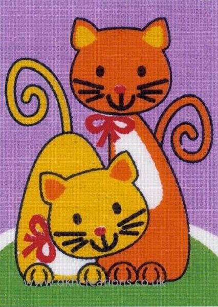 Playing Cats Tapestry Kit